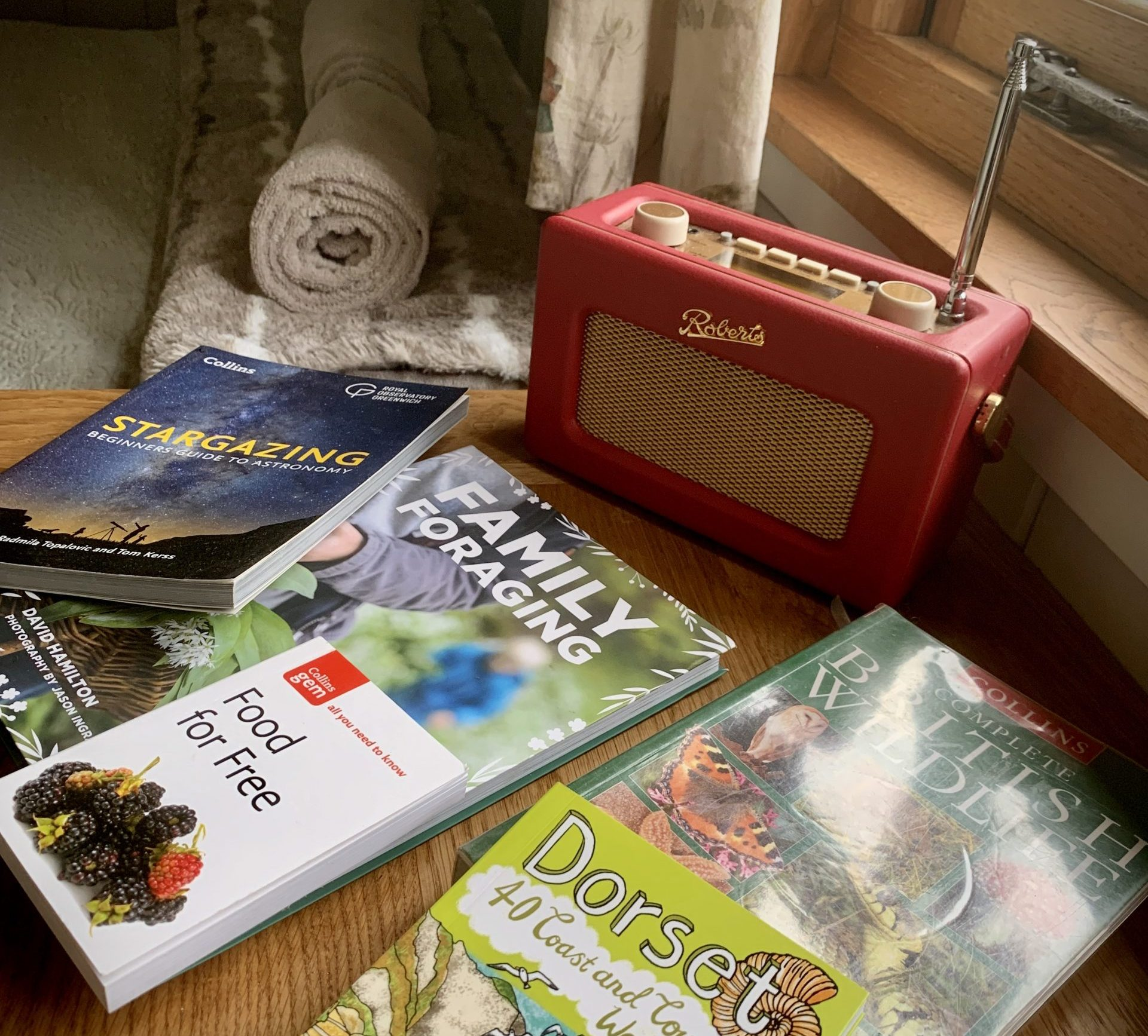 Lots of books on foraging and walking